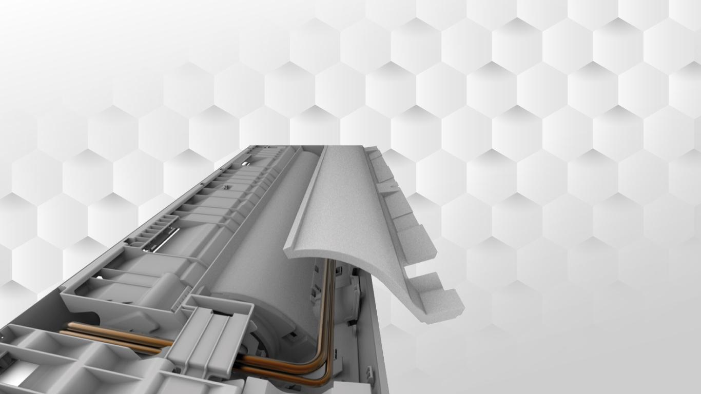 Điều hòa casper với xốp cách nhiệt Nano
