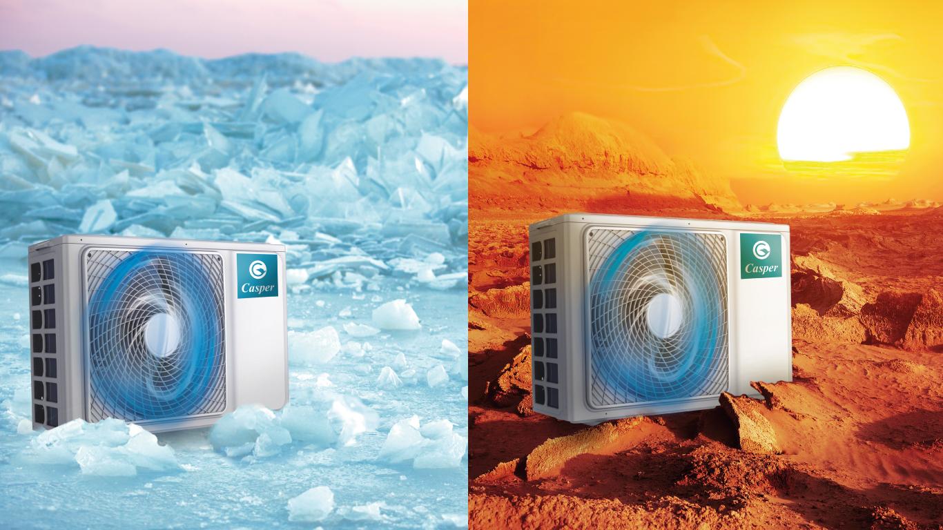 Dàn nóng thế hệ mới trên điều hòa casper
