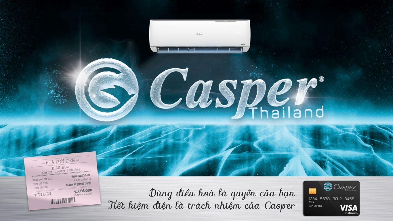 Điều hòa Casper inverter tiết kiệm điện 4000đ/ đêm