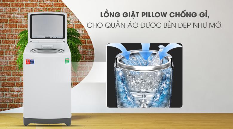 Lồng giặt Pillow-Máy giặt Aqua 10 kg AQW-FR100ET.H lồng đứng
