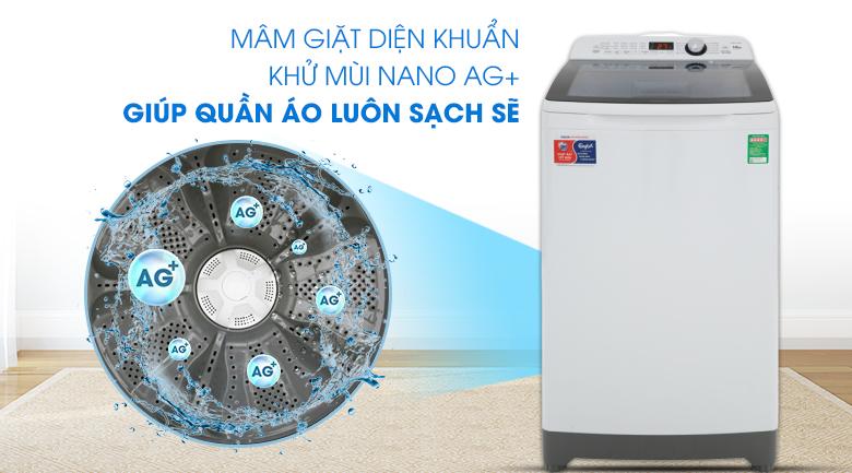 Công nghệ Nano Ag+-Máy giặt Aqua 10 kg AQW-FR100ET.H lồng đứng