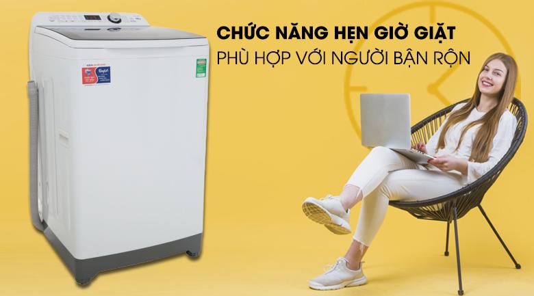 Hẹn giờ giặt xong-Máy giặt Aqua 10 kg AQW-FR100ET.H lồng đứng