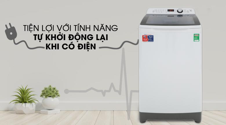 khởi động khi có điện-Máy giặt Aqua 10 kg AQW-FR100ET.H lồng đứng