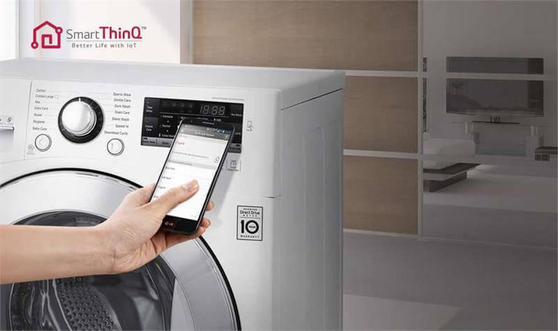 Máy giặt lồng ngang LG 8kg FM1208N6W thông minh