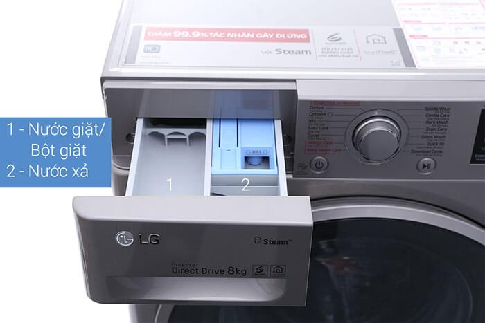 Máy giặt LG 8kg lồng ngang inverter FC1408S3E truyền động