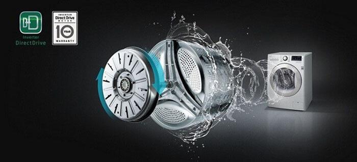 Máy giặt LG 8kg lồng ngang inverter FC1408S4W2 công nghệ hiện đại