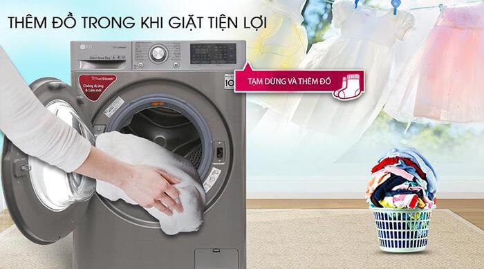 Máy giặt LG 9 kg lồng ngang inverter FC1409S2E giặt sạch