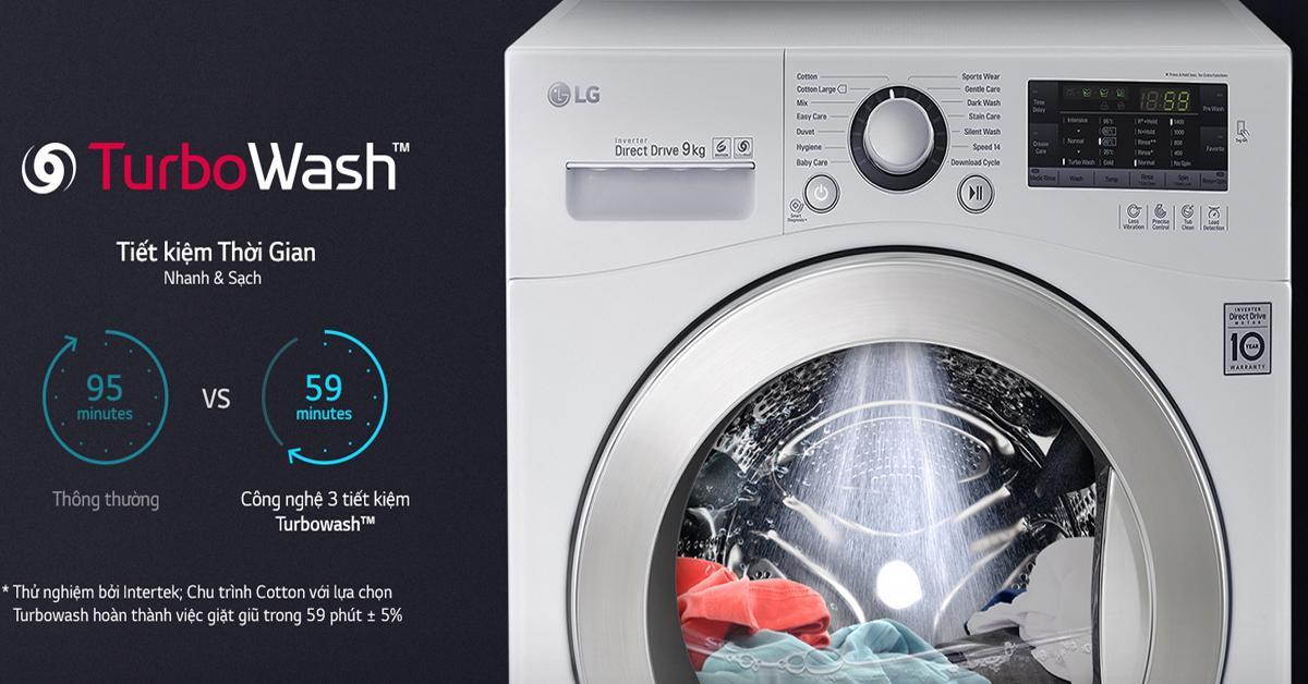 Máy giặt LG 9kg inverter lồng ngang FC1409S3W