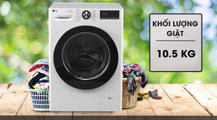 Máy giặt LG 10.5 kg FV1450S3W