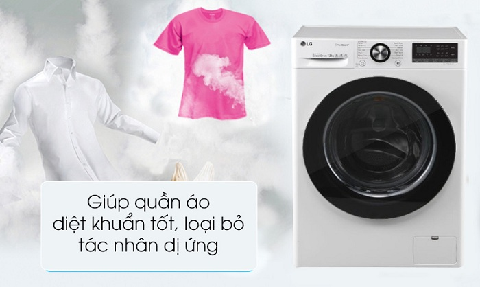 Máy giặt LG Inverter 10.5 kg FV1450S3W diệt khuẩn