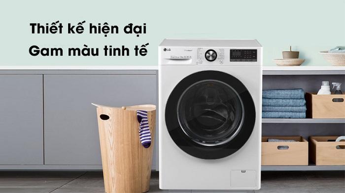 Máy giặt LG Inverter 10.5 kg FV1450S3W hiện đại