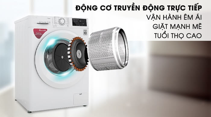 Máy giặt LG Inverter 8 kg FC1408S5W trực tiếp