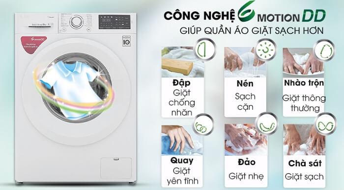 Máy giặt LG Inverter 8 kg FC1408S5W giặt sạch