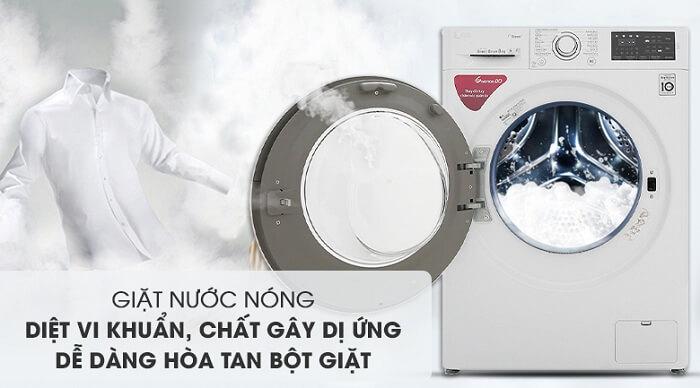 Máy giặt LG Inverter 8 kg FC1408S5W diệt vi khuẩn