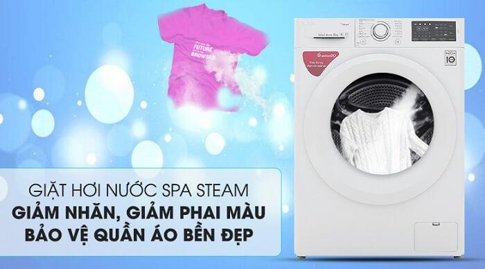 Máy giặt LG Inverter 8 kg FC1408S5W giảm nhăn