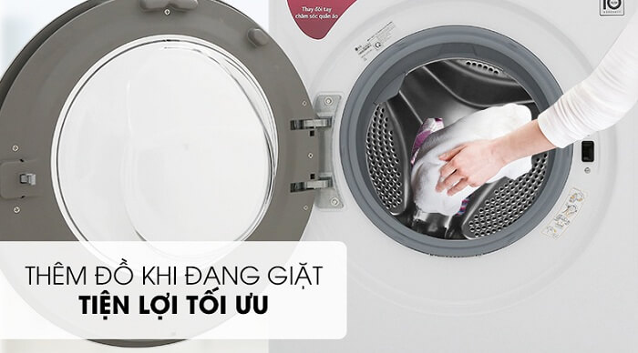 Máy giặt LG Inverter 8 kg FC1408S5W tiện lợi