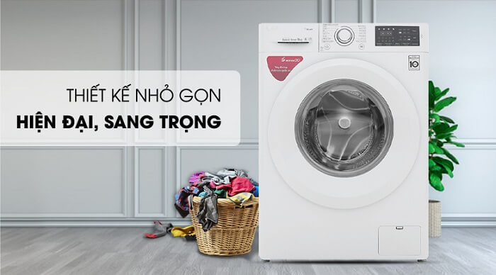 Máy giặt LG Inverter 8 kg FC1408S5W nhỏ gọn