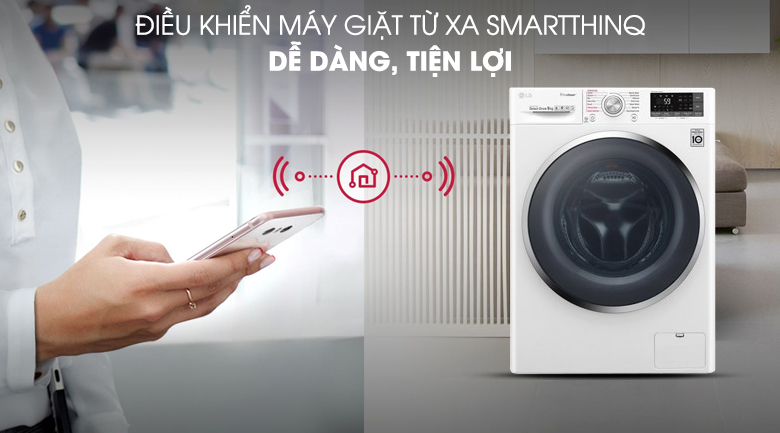 Máy giặt LG Inverter 9 kg FC1409S4W đa năng