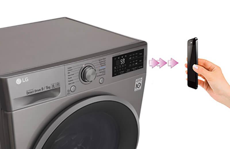 Máy giặt sấy LG 9kg lồng ngang inverter FC1409D4E công nghệ hơi nước