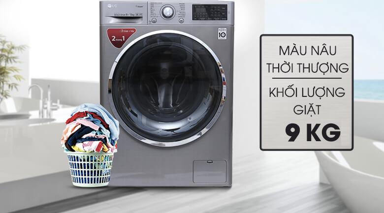 Máy giặt sấy LG 9kg lồng ngang inverter FC1409D4E chính hãng