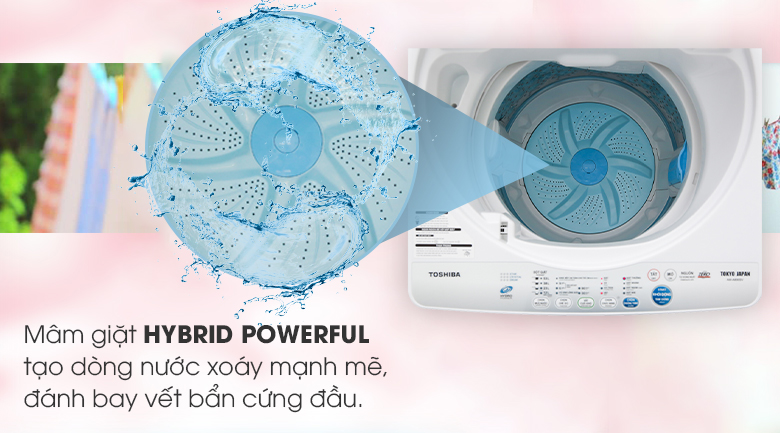Máy giặt Toshiba lồng đứng 7kg AW-A800SV WB tạo luồng nược mạnh