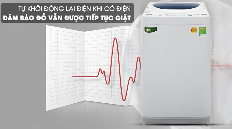 Máy giặt Toshiba lồng đứng 7kg AW-A800SV WB tự khởi động lại
