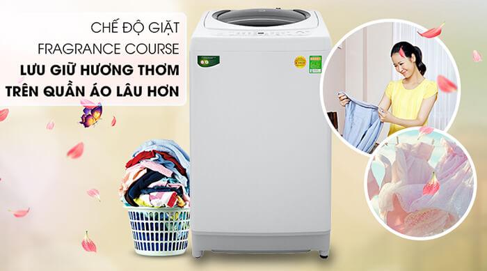 Máy giặt Toshiba 9kg lồng đứng AW-G1000GV WG thơm