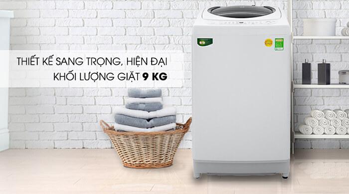 Máy giặt Toshiba 9kg lồng đứng AW-G1000GV WG hiện đại