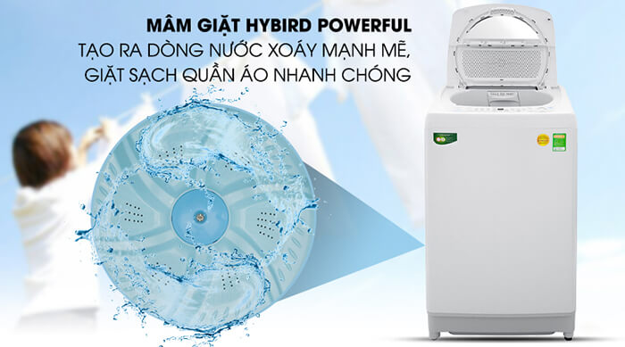 Máy giặt Toshiba 9kg lồng đứng AW-G1000GV WG nước xoáy
