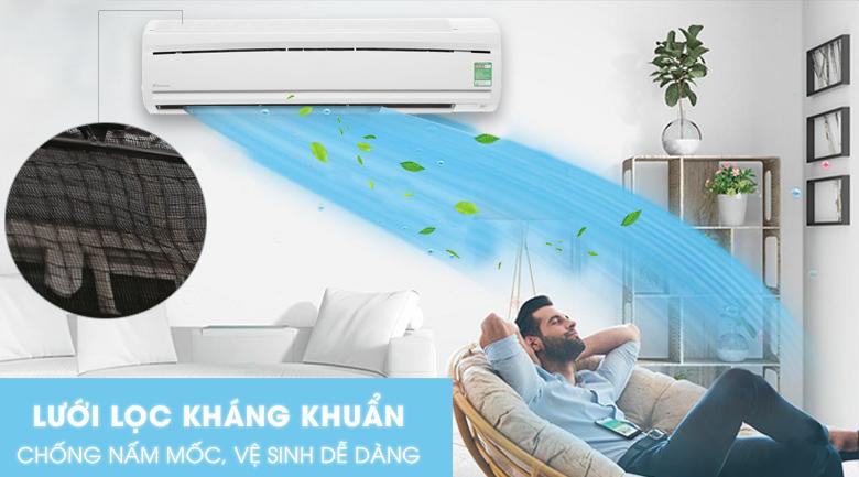 Máy lạnh Daikin 1 chiều 17.100BTU FTC50NV1V kháng khuẩn