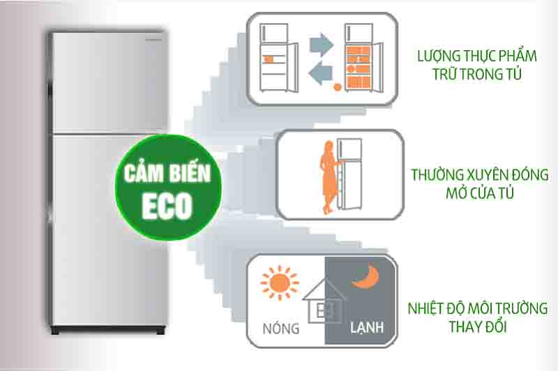 Tủ lạnh Hitachi 230 lít RH230PGV7 BSL eco