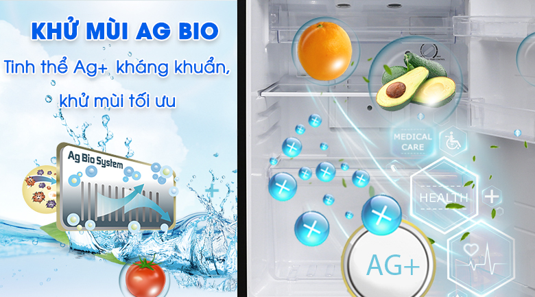 Tủ lạnh Toshiba 194 lít 2 cánh Inverter GR-A25VM(UKG1)