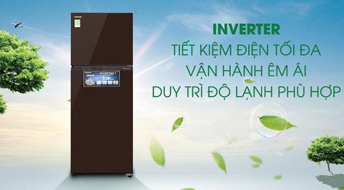 Tủ lạnh Toshiba 305 lít inverter GR-AG36VUBZ XB1 tiết kiệm điện