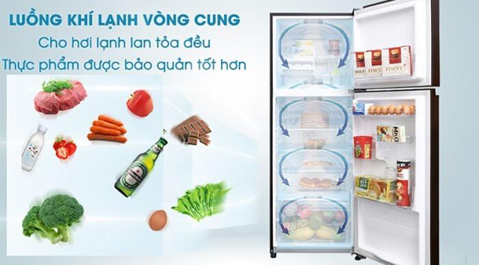 Tủ lạnh Toshiba 305 lít inverter GR-AG36VUBZ XB1 lạnh đều