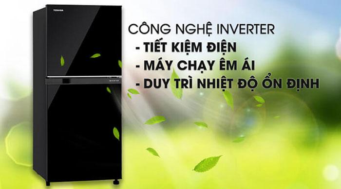 Tủ lạnh Toshiba inverter 180 lít GR-B22VU (UKG) tiết kiệm