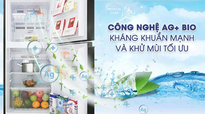 Tủ lạnh Toshiba inverter 180 lít GR-B22VU (UKG) khử mùi