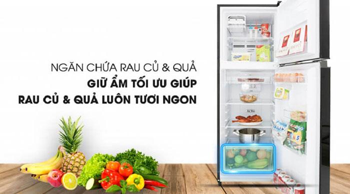 Tủ lạnh Toshiba inverter 180 lít GR-B22VU (UKG) giữ ẩm
