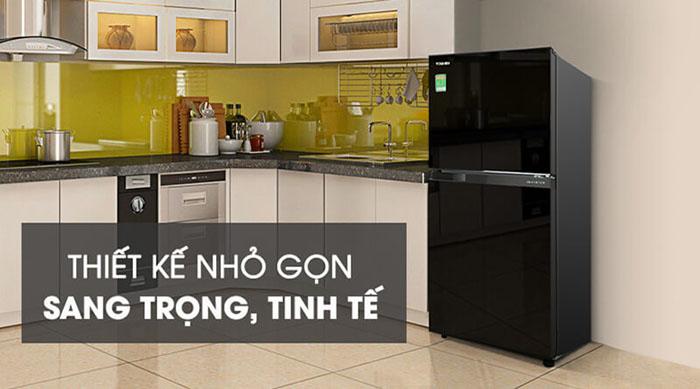 Tủ lạnh Toshiba inverter 180 lít GR-B22VU (UKG) sang trọng