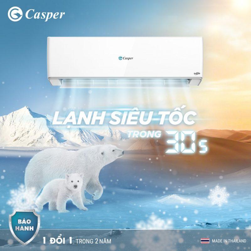 điều hòa casper làm lạnh nhanh